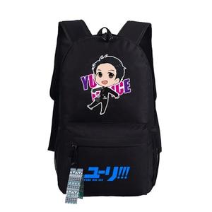 Image 5 - YURI on ICE Katsuki Yuri Women Backpack Canvas School Bags for Teenage Harajuku Travel Bagpack Anime Laptop Back Pack Bookbag