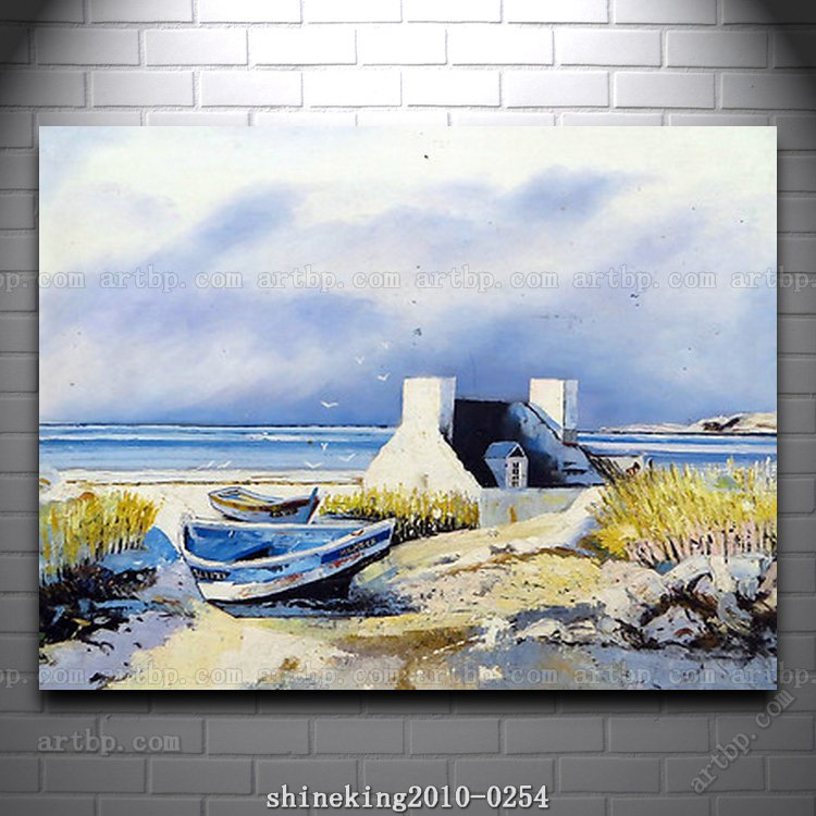 Landscape oil painting impressionist art canvas painting for Painting on black canvas tips