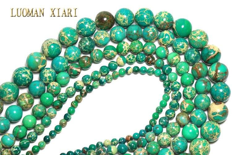 6 mm 10 perlas de jade en verde claro