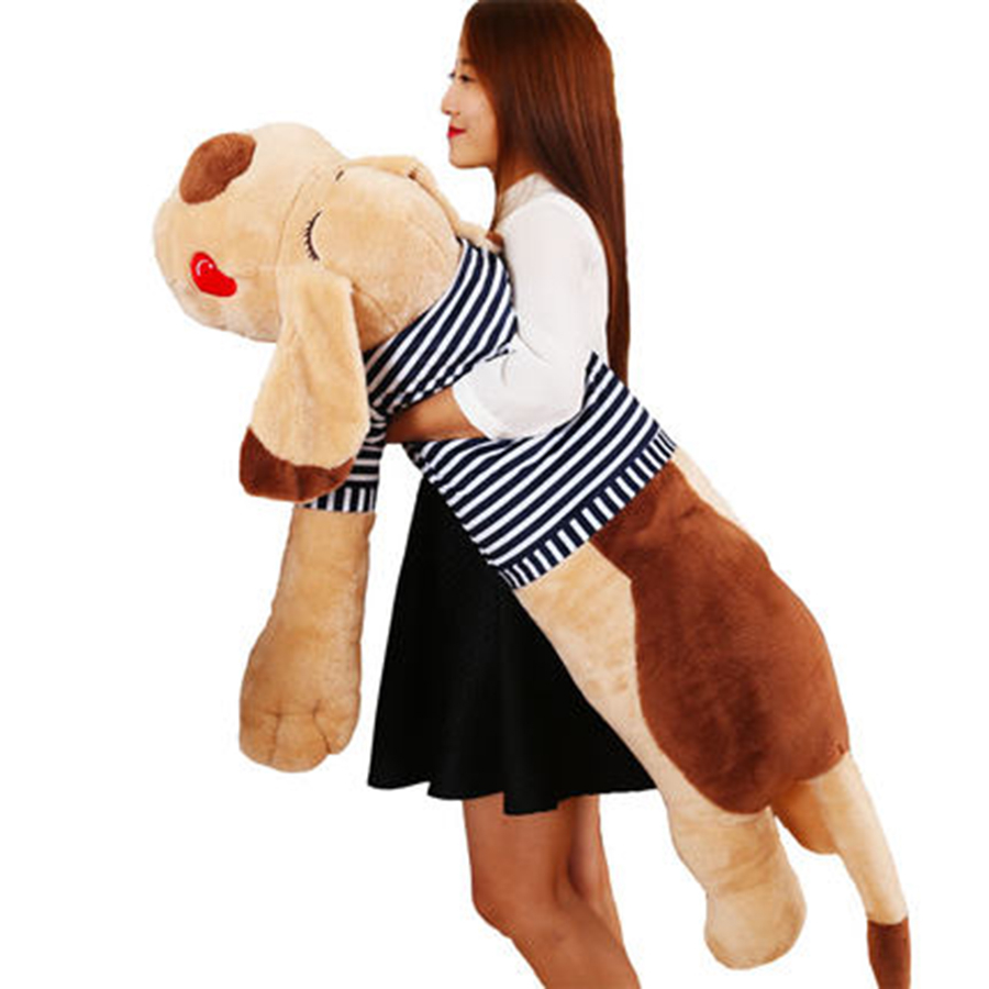 Huge Plush Dog Toy Lying Plush Toys Soft Toys For Children Birthday Gift Cute Kawaii Stuffed Sleeping Dog Plush Soft 70C0611