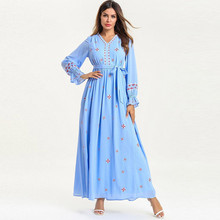 abayas for women muslim long abaya beautiful dresses Middle Eastern Long Dress Robe Embroidery Maxi Y525