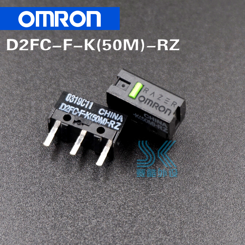2pcs/lot OMRON Mouse Micro Switch Microswitch D2FC-F-K 50m General D2FC-F-7N 10M 20M 50 Millions Time Lifetime