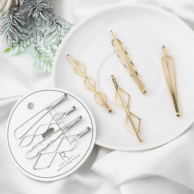Geometric Shaped Hairpins Set
