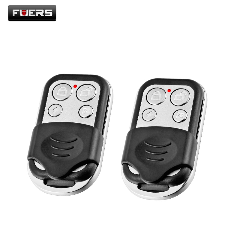Fuers Wireless metallic remote control Keychain for wireless alarm system, security system alarm camera