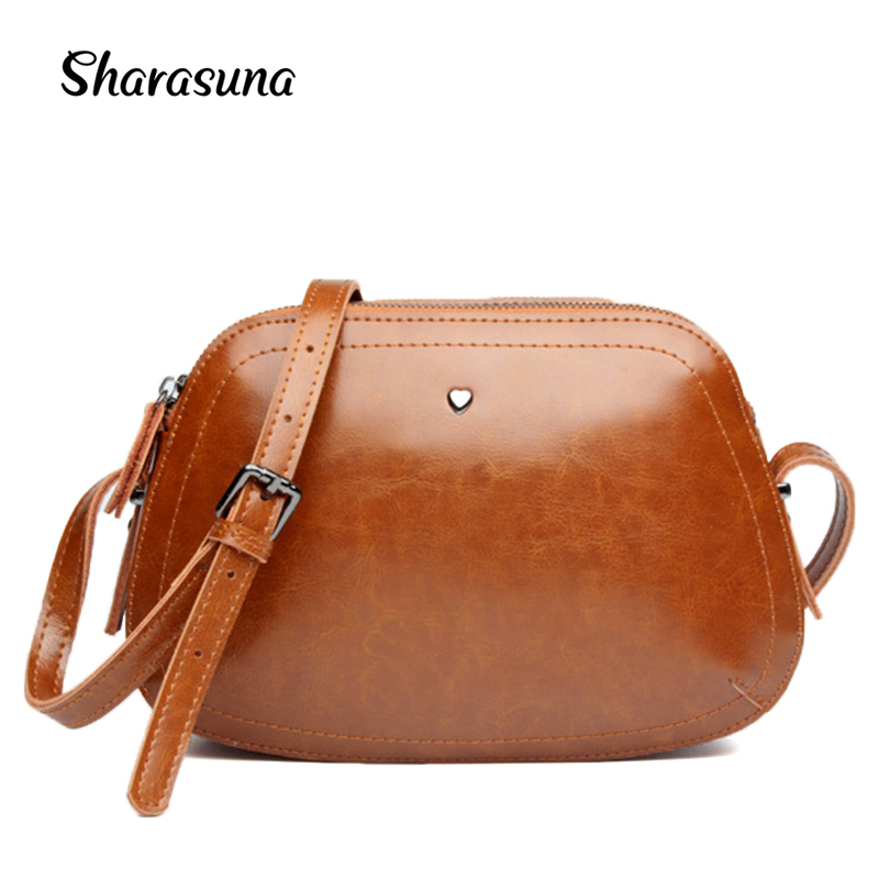 2017 New Fashion Designer Leather Handbags Shoulder Messenger Bag for Women Crossbody Bags Ladies Small Handbags black brown 2017 fashion all match retro split leather women bag top grade small shoulder bags multilayer mini chain women messenger bags