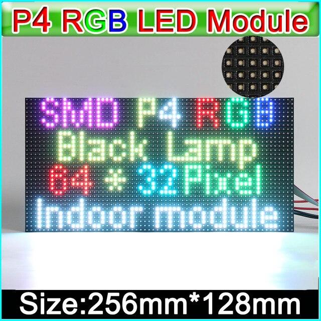 2019 nouveau module d'affichage de LED de rvb P4, SMD rvb 3 dans 1 panneau polychrome d'intérieur de LED de P4, 256mm * 128mm 64*32 points,
