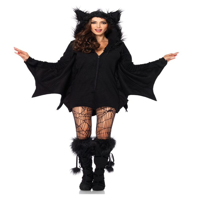 Women's Cozy Bat Costume Halloween Adult Party Carnival Performance Cosplay