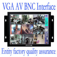 FREE SHIPPING ZGYNK / 8 inch TFT LED metal Monitor Open Frame Industrial monitor with VGA /AV/BNC/HDMI monitor