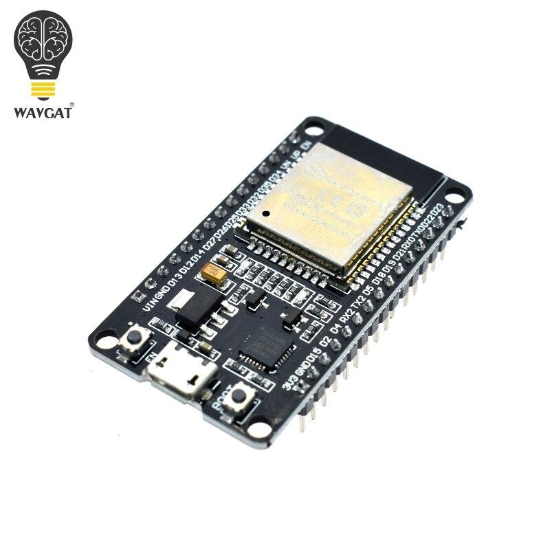 WAVGAT ESP32 Placa de desarrollo, WiFi y Bluetooth Ultra-bajo consumo de energía Dual Core ESP-32 ESP-32S ESP 32 similares ESP8266