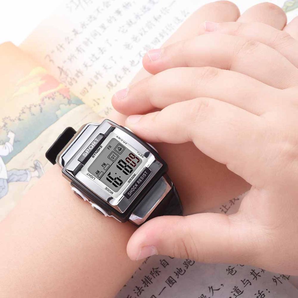 Best Selling Children Girl Boy Watches Wrist Clock Silicone LED Digital Featured Sport Kids Wholesale Erkek Saat@50