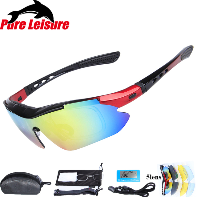fd55bddbfab1 PureLeisure 1 Set 5 Lens Fly Fishing Polar Glasses Clip On Sunglasses  Polaryte HD Polarisantes Peche Sun Covers Sunglass Clip