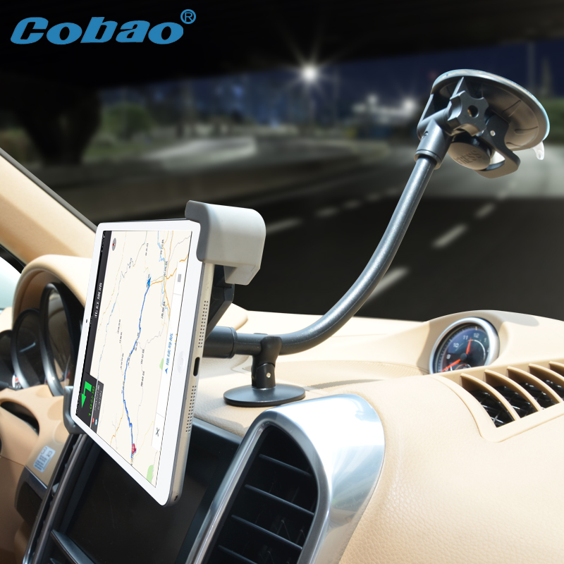 Cobao 7-11 inch long arm support tablet car navigation tablet PC holder accessories moun ...