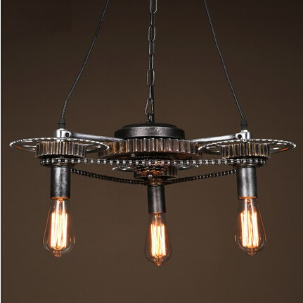 Retro Loft Style Gear Edison Pendant Light Fixtures Vintage Industrial Hanging Lamp For Bar Home Lighting Lamparas Colgantes