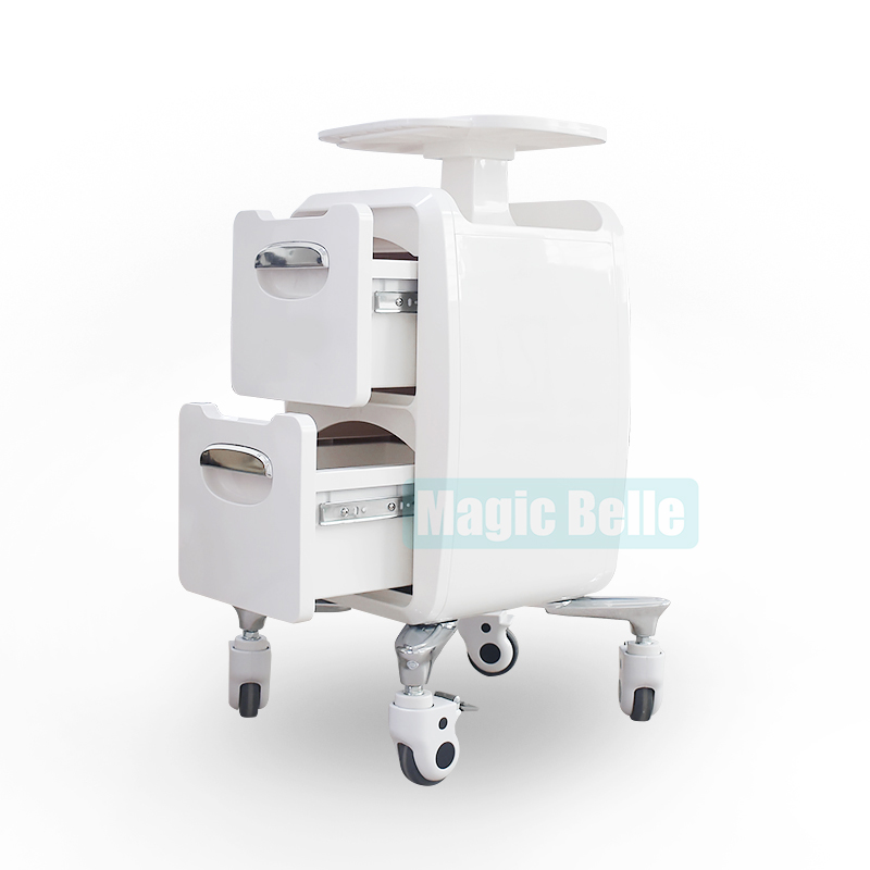 Newest Rolling Trolley Salon And Spa Use Moving Stand Trolley For Beauty Machine Display With Wheel