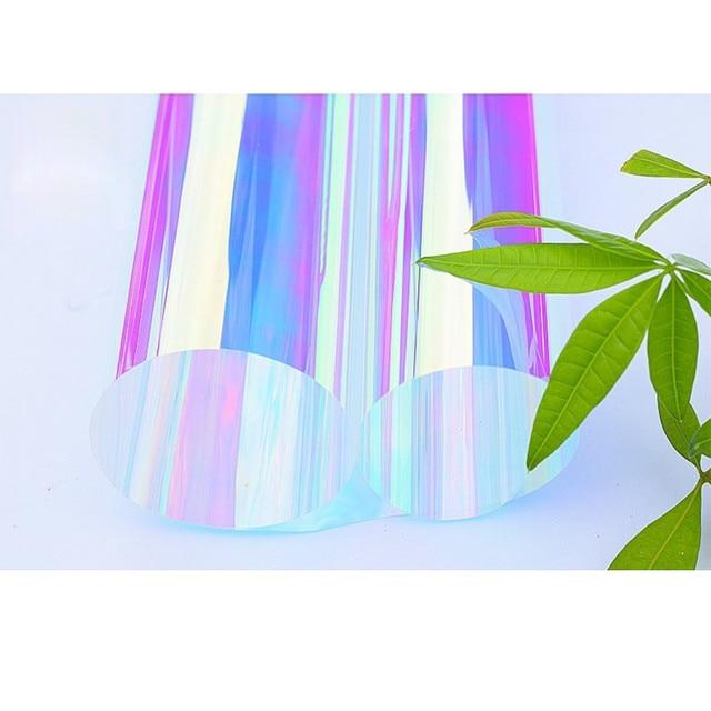 Decorative Window Film Rainbow Effect Door Decoration Clear Glass