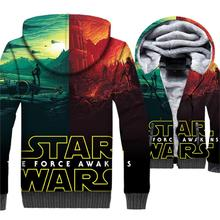 2018 star wars hipster hip-hop jacket wool liner rib sleeve 3D jackets coats men winter casual thick brand clothing plus hoodies цена и фото