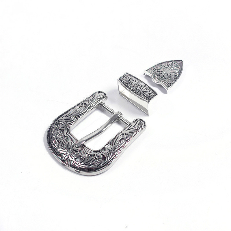 Deepeel 1set(3pcs)26mm Pin Belt Buckle Vintage Carve Pattern Alloy Buckles For Women Men DIY Jeans Waist Band LeatherCraft YK203