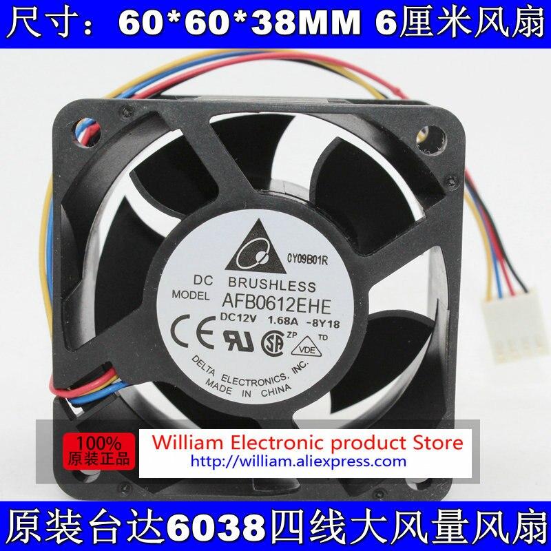 Оригинальный для Nidec V60E12BS1B5-07 6038 сильный вентилятор 12В