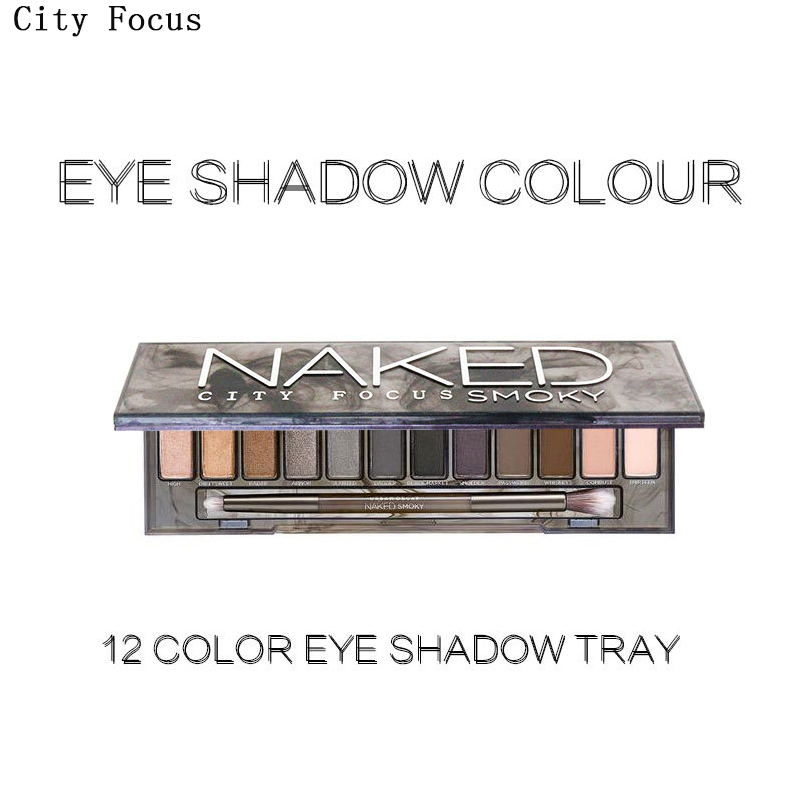 City Focus brand naked smoky eyeshadow palette eye makeup palette with make up brushes