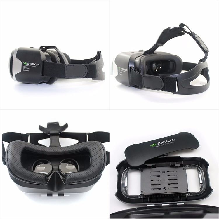 18 Google Cardboard VR Shinecon2.0 BOX Version Virtual Reality 3D Glasses + Smart Bluetooth4.0 Wireless Remote Control Gamepad 17