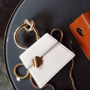 Image 2 - Casual Metal Handle Handbags Women Messenger Bag 2020 Brands Chains Shoulder Crossbody Bags Ladies Womens Bag Purses Bolsa Chic