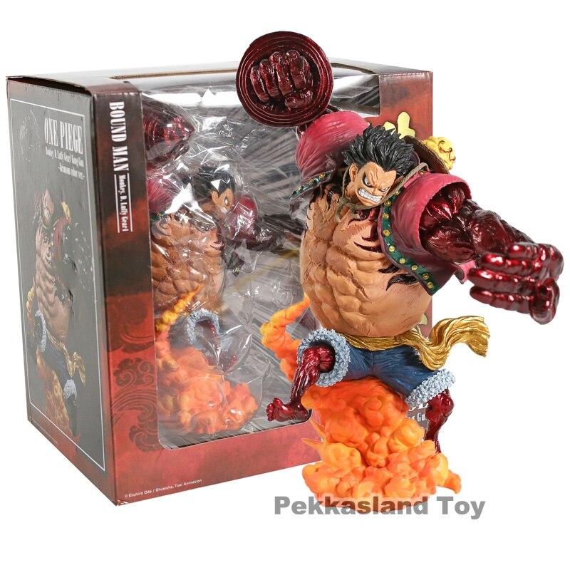 Une pièce Statue bataille Ver singe D Luffy Gear 4 relié homme roi Kong pistolet modèle jouet Luffy Action Figure Collection jouets