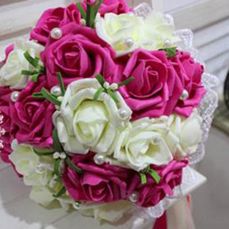 Wholesale Flowers For Weddings Events: Custom Rose Colour Wholesale Rose Bridesmaid Wedding Foam