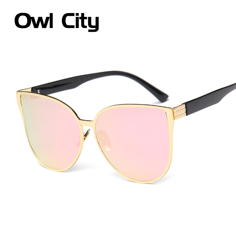 Oversized Cat eye Sunglasses Women Brand Designer Piot Sun glasses Classic Retro Style Female Alloy Big Frame Mirror Sunglass