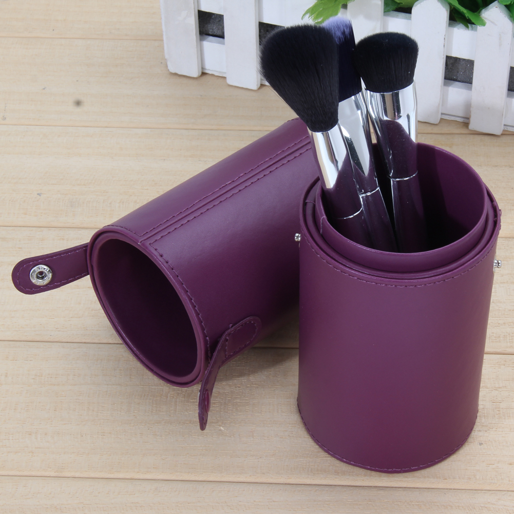 8.9'' Portable Travel PU Leather Cosmetic Brushes Pen Holder Storage Empty Makeup Brush Organizer Rangement Maquillage Tools maange dropship leather cosmetic case portable storage makeup bags organizer brush holder cup pu material anne