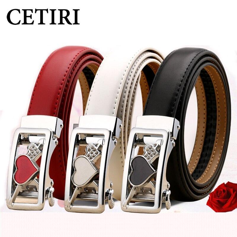 CETIRI New Fashion Heart Women   Belt   Female Genuine Leather Strap Ladies Girls Designer For Jeans Skirt Ceinture Femme Plus Size