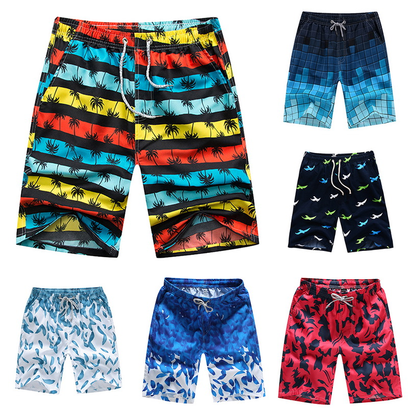 Monerffi Swimwear Trouser Short Pant Trunks Surf Sports Mens Beach-Board Quick-Dry Plus-Size