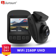 Junsun 4K WiFi Car DVRS 2160P Ultra HD Dashcam 60fps Novatek 96660 Video Recorder Camera Night Vision Dash Cam 2018 Hidden Type(China)