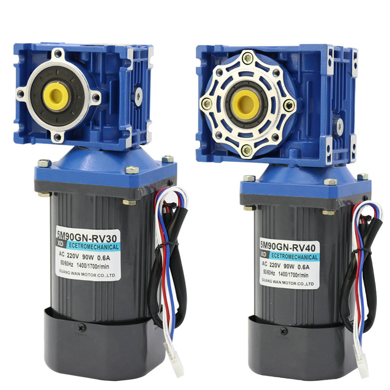 AC220v 90W NMRV30 worm gear motor, forward and reverse, suitable for mechanical equipment, power tools, conveyors, DIY, etc. ac220v90w 0 500rpm 2m90gn c single phase speed decelerating gear motor suitable for mechanical equipment power tools diy etc