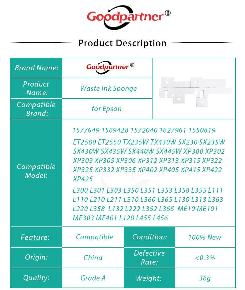 1X Spons Limbah Tinta Tray Berpori Pad untuk Epson ET2500 ET2550 L355 L210 TX235W TX430W SX230 SX235W SX430W SX435W SX440W SX445W