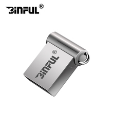 Binful Super mini metal U disk 4gb 8gb 16gb 32gb 64gb 128gb pendrive small usb flash drives high speed pen drive