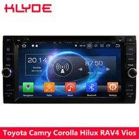 KLYDE 4G Octa Core 4GB RAM+32GB Android 8.0 Car DVD Player Radio For Toyota RAV4 Terios Hiace Prado Previa Crown Camry Tundra
