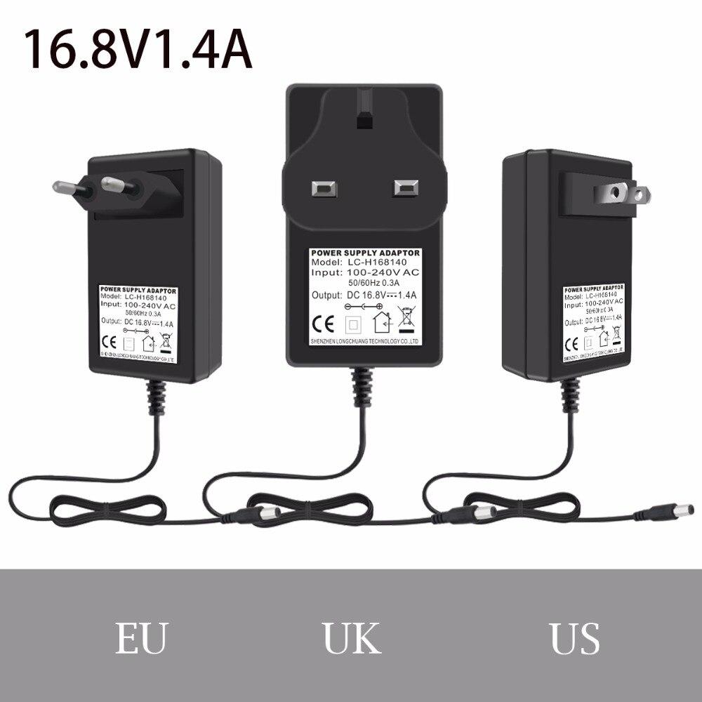 16.8 V 1.4a/1400ma Charger Schakelaar Voeding Adapter Eu/us/uk Plug 5.5x2.5mm Met 1.5 M Kabel Gratis Verzending