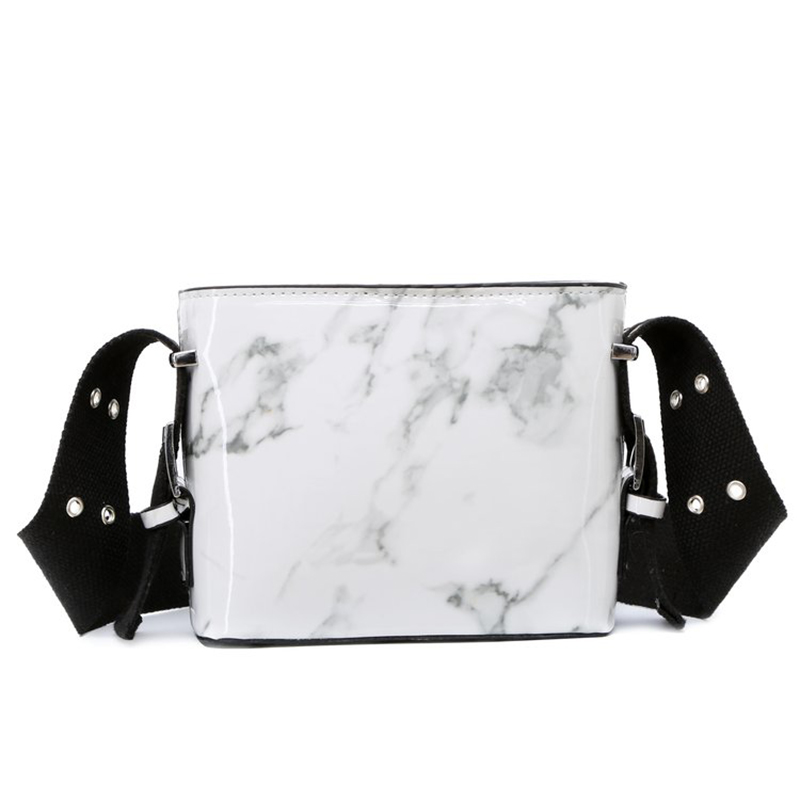 Flap Marble Shoulder Bag Width Adjusted Strap Girl Personality Shopping Crossbody Bag Ladies Messenger Bag Clutch Purse