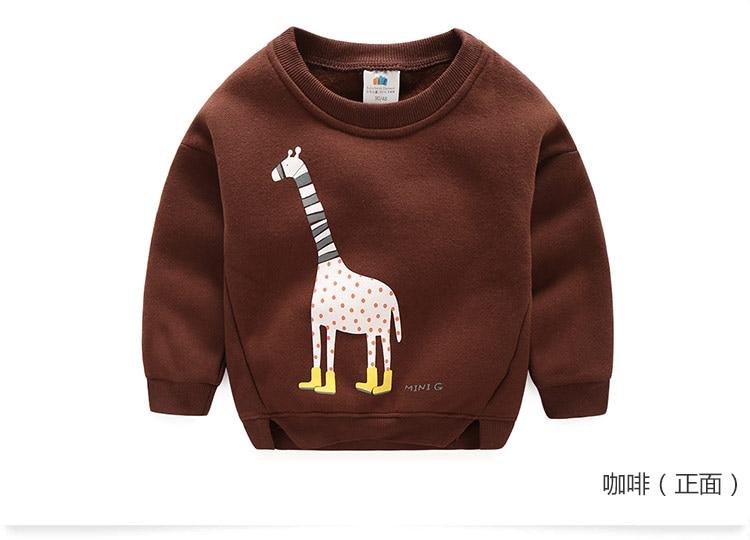2018 Autumn Winter Warm 2-10 Years Old Children Long Sleeve Cartoon Animal Print Kids School Baby Handsome Boy Fleece Sweatshirt (11)