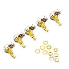5Pcs A500k Ohm Audio Mini Pots Guitar Golden Potentiometer For Electric Guitar Parts