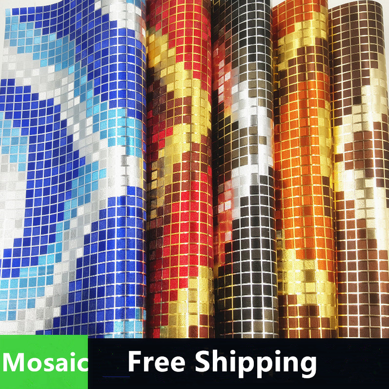 Free shipping light mosaic wall paper roll red glod blue black wallpaper for living room, ktv, hotel ,  salon 1 piece free shipping anodizing aluminium amplifiers black wall mounted distribution case 80x234x250mm