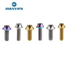 Wanyifa M6x16mm M6x20mm Plum Umbrella Head Titanium Bolt Screw for Bicycle V Brake Motorcycle Modification