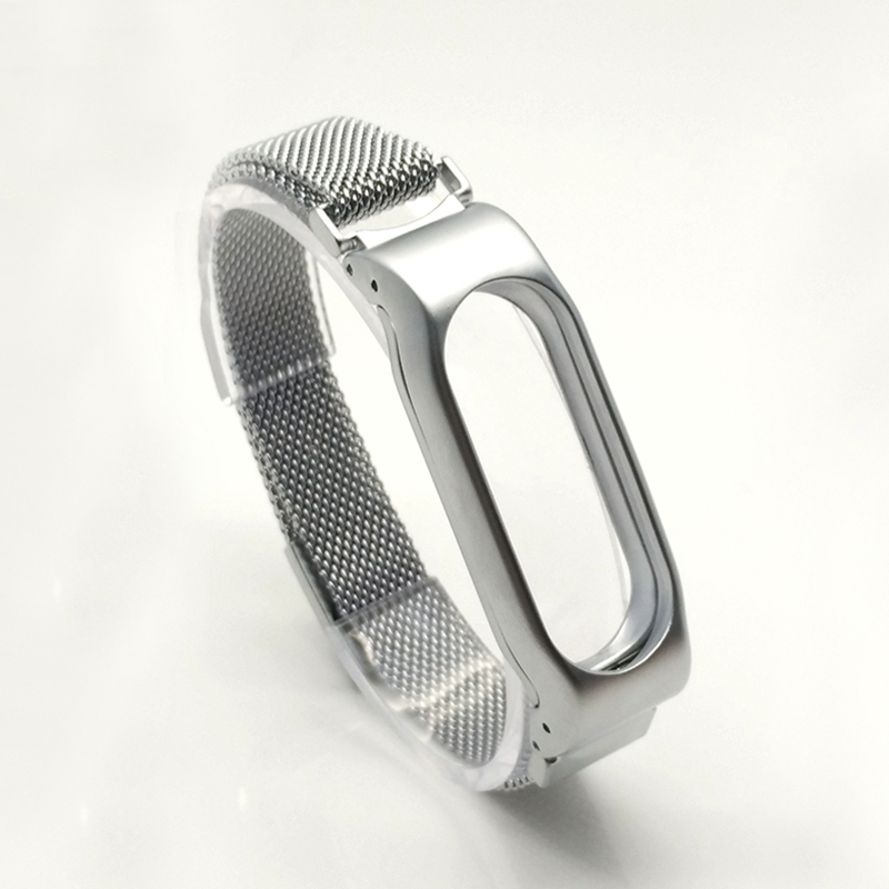 Cindiry  Milanese Loop Strap For Xiaomi Mi Band 2 Screwless Stainless Steel Bracelet Band Replace Accessory For Mi Band 2 crested milanese loop strap metal frame for fitbit blaze stainless steel watch band magnetic lock bracelet wristwatch bracelet