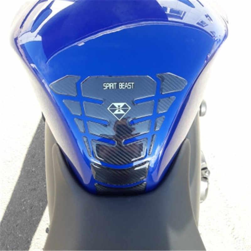 Carlob 3D Carbon Fiber Motorcycle Decal Gas Fuel Tank Pad Protector Cover Fiber Style Car Sticker For Suzuki BMW Honda Kawasaki