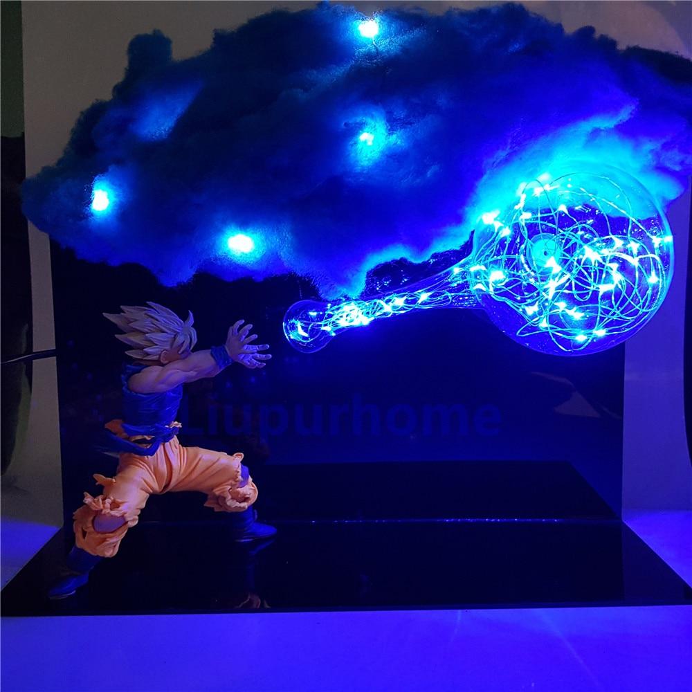 Dragon Ball Led Lamp Son Goku Kamehameha Night Light Table Lamp Figuras Dragon Ball Lampara DBZ Goku Cloud DIY Light Set