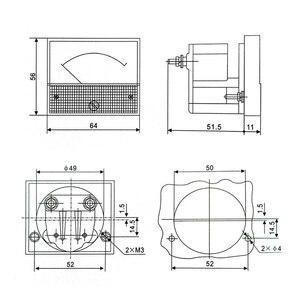 Аналоговый 85L1 AC 250 V панельный измеритель вольтметр измерительное устройство Установочное оборудование