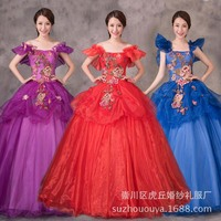 2019 new strapless Appliques Taffeta Ball Gown Quinceanera Dress Party Dress quinceanera ruha