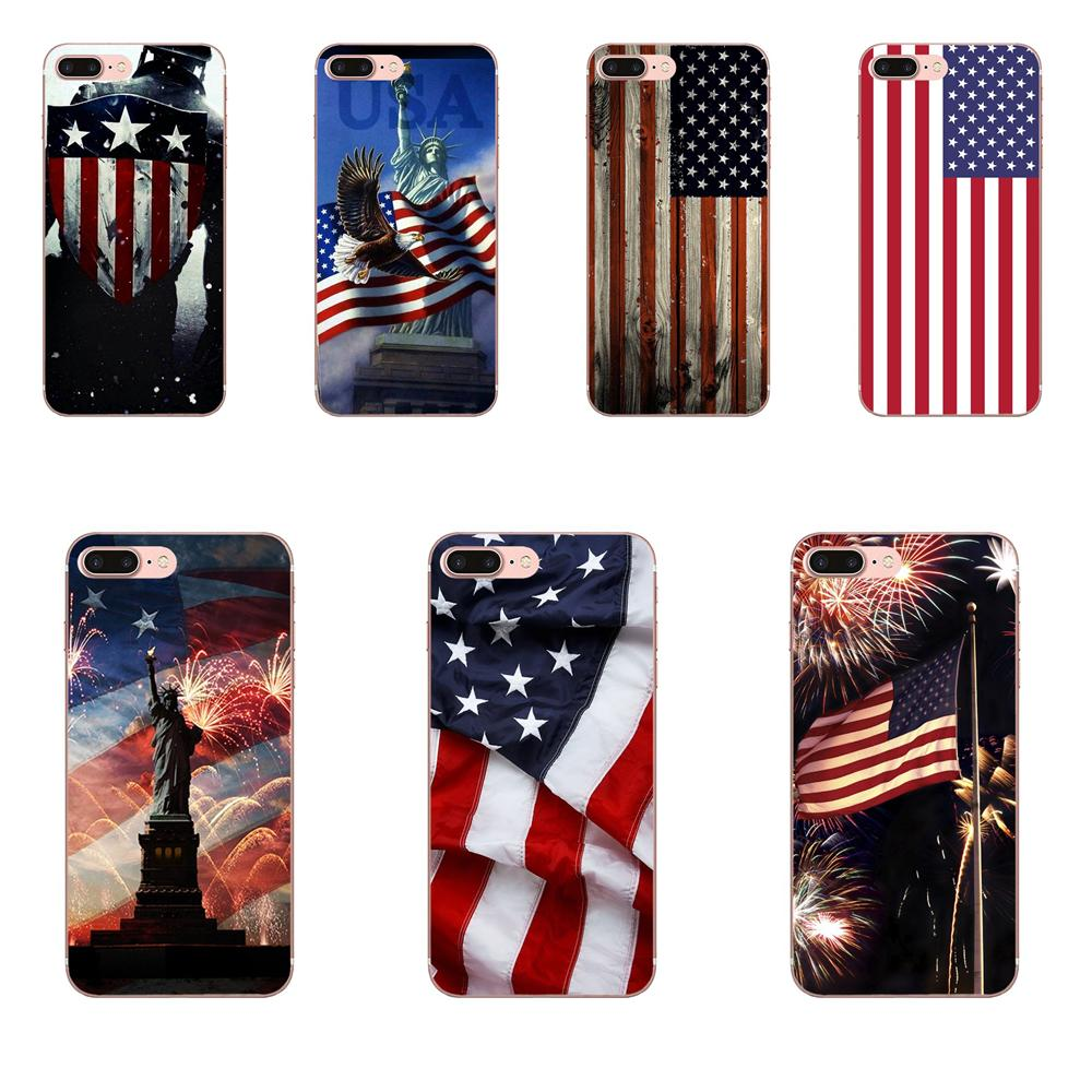 For Galaxy Alpha Core Note 2 3 4 S2 <font><b>A10</b></font> A20 A20E A30 A40 A50 A60 A70 M10 M20 M30 Cell Case Usa America <font><b>Flag</b></font> image