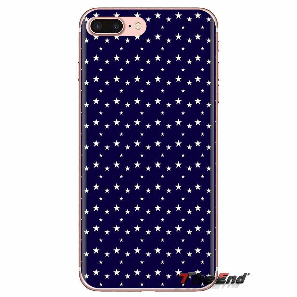 Etui na telefon komórkowy białe gwiazdki na granatowy wzór dla Huawei Nova 2 3 2i 3i Y6 Y7 Y9 Prime pro GR3 GR5 2017 2018 2019 Y5II Y6II