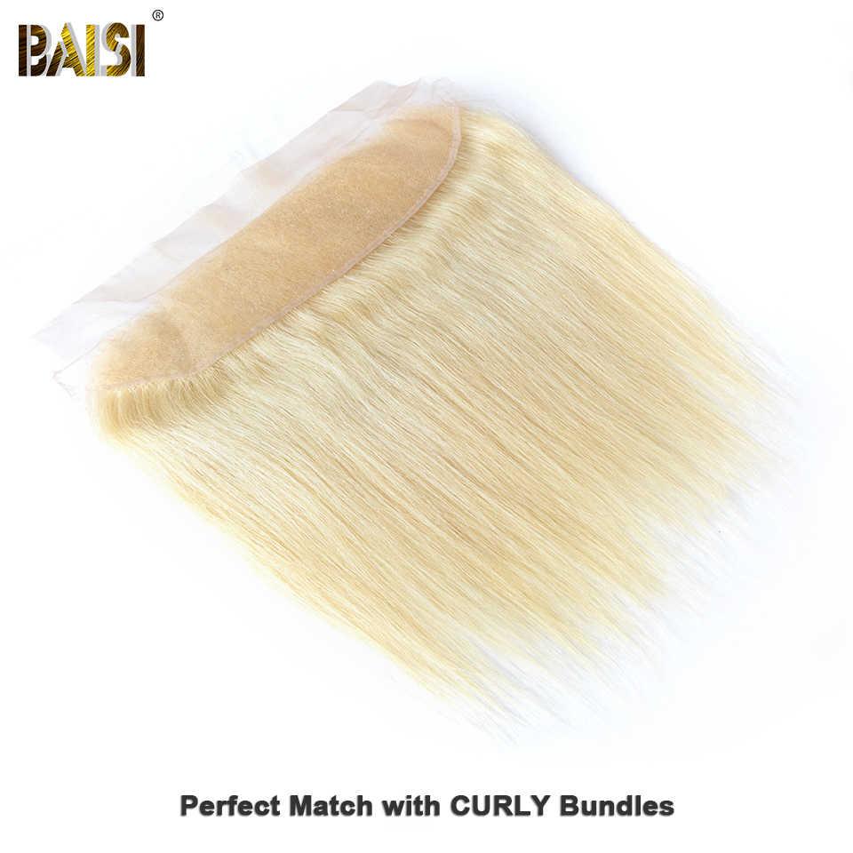 Baisi Rambut Brasil Rambut Remy 613 Rambut Pirang Berwarna Renda Frontal-Dipetik Alami Rambut 100% Rambut Manusia